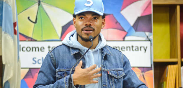 (Photo by Timothy Hiatt/Getty Images) Chance The Rapper Holds A Press Conference In Support Of Chicago Schools