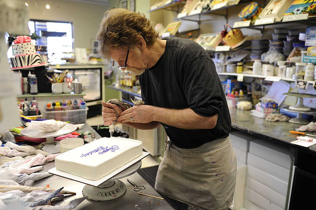 LAKEWOOD, CO - January 13: Jack Phillips, owner of Masterpiece Cake in Lakewood, decorates a birthday cake Thursday, January 3, 2012. (Photo by Lindsay Pierce, The Denver Post)