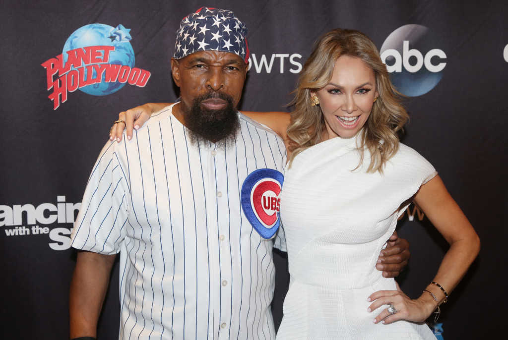 "Mr T and Kym Herjavec pose at the ""DWTS"" Season 24 cast Announcement & Press Junket (Photo by Bruce Glikas/FilmMagic)"