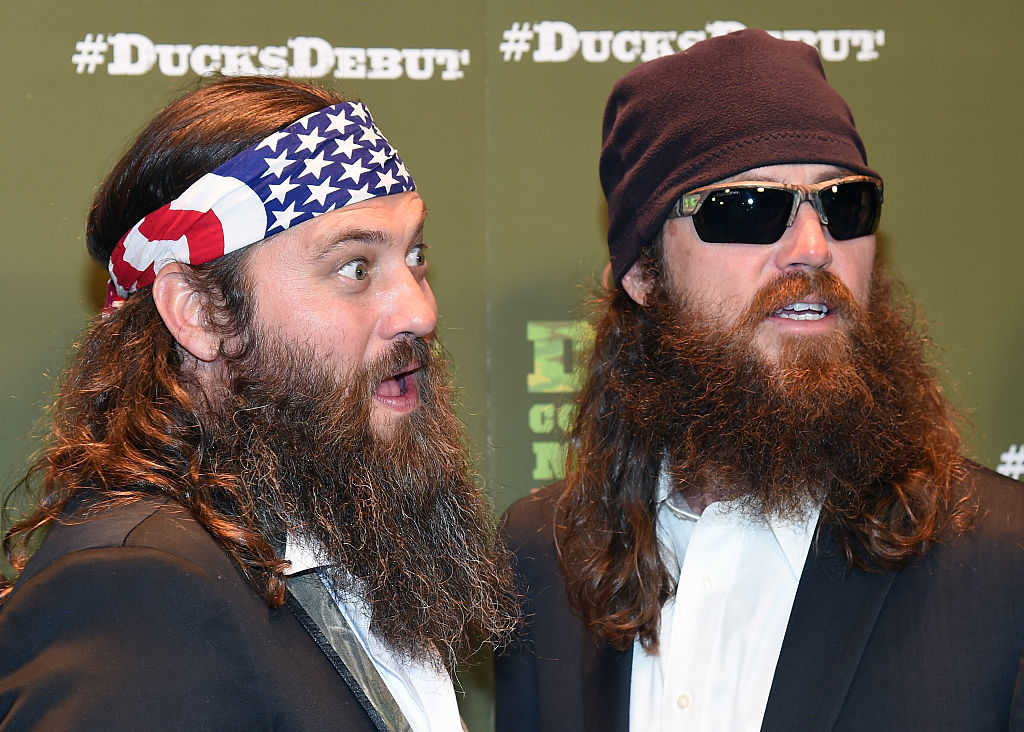 TV personalities Willie Robertson (L) and Jase Robertson (Ethan Miller/Getty Images)