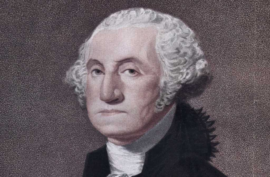 George Washington, the 1st President of the United States of America. Original Publication: From the engraving by W Nutter, after CG Stuart. (Photo by Hulton Archive/Getty Images)