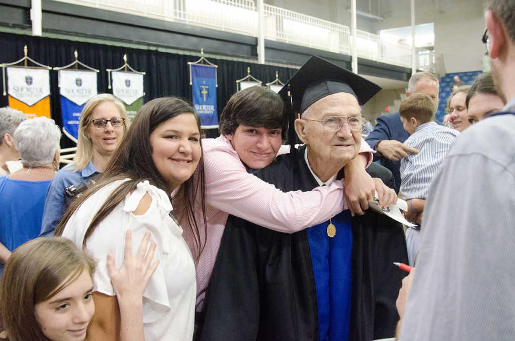 Horace Sheffield graduates at age 88 (Shorter University)
