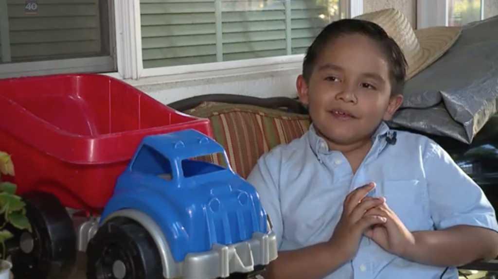 Photo Credit: Fox 40/Screen shot of 5-year-old Joshua Serna