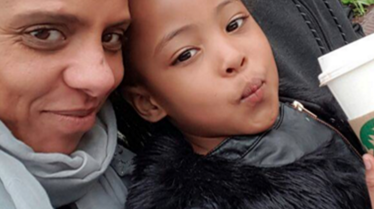 Natasha Elcock, left, and her daughter Shayla, right. (Photo credit: JustGiving.com)
