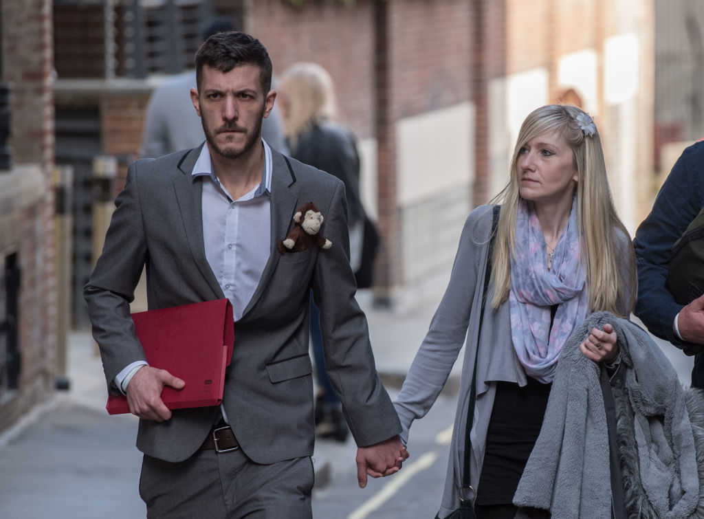 Parents of Charlie Gard, Chris Gard and Connie Yates, leave the Royal Courts of Justice on April 5, 2017 in London, United Kingdom. (Chris J Ratcliffe/Getty Images)