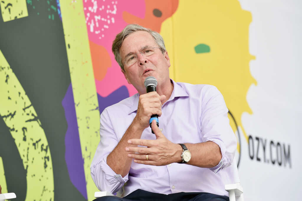 Jeb Bush speaks onstage during OZY FEST 2017 Presented By OZY.com at Rumsey Playfield on July 22, 2017 in New York City. (Bryan Bedder/Getty Images for Ozy Fusion Fest 2017)