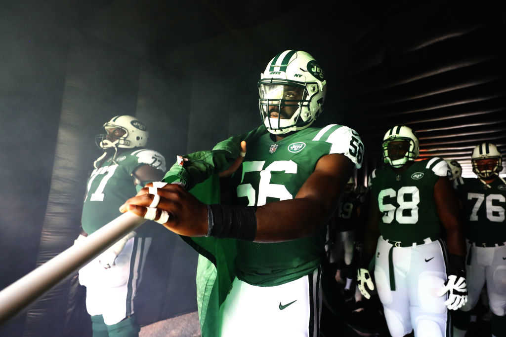 Demario Davis #56 of the New York Jets (Al Bello/Getty Images)