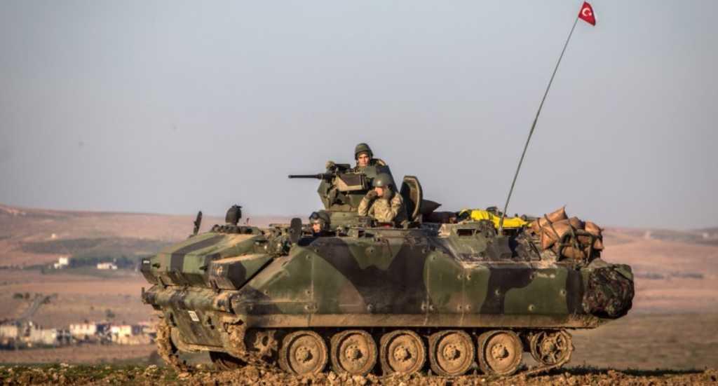 Turkish troops advance on Kurdish-held areas of Northern Syria. Credit: Twitter