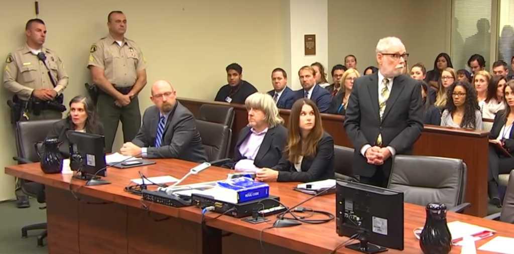 David and Louise Turpin at their court hearing. Credit: Screenshot