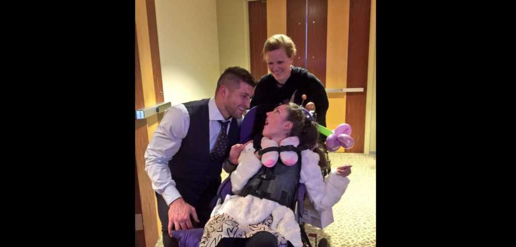 Tim Tebow at 'Night to Shine.' Credit: Facebook