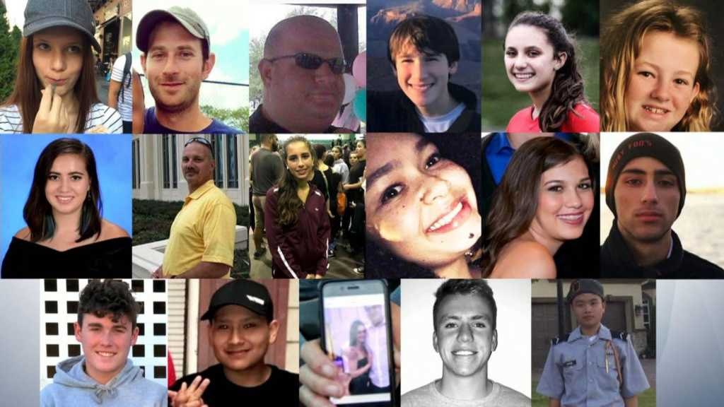 Victims of the Florida shooting.