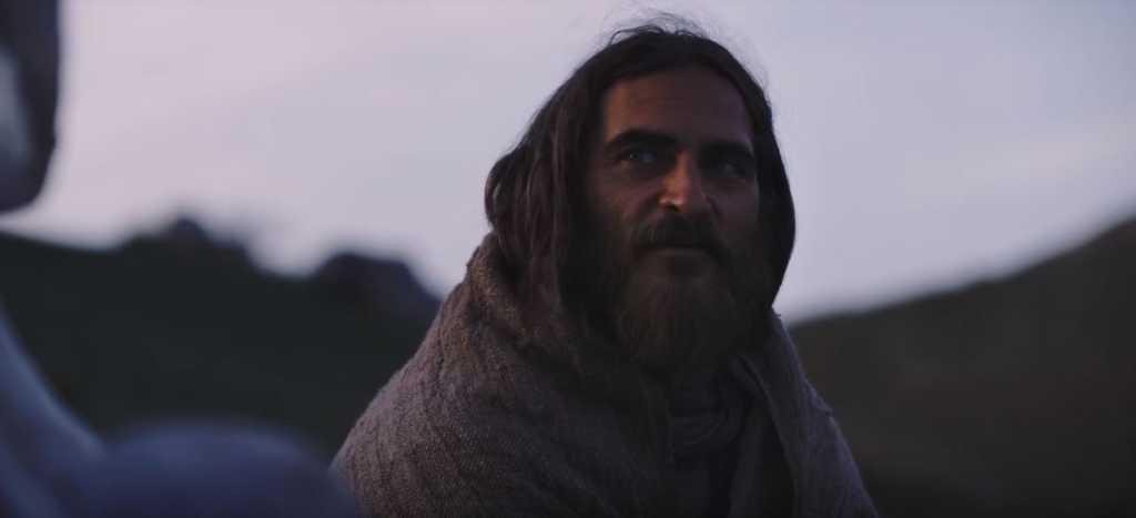 "Joaquin Phoenix as Jesus Christ in ""Mary Magdalene."" (Image source: Zero Media via YouTube)"