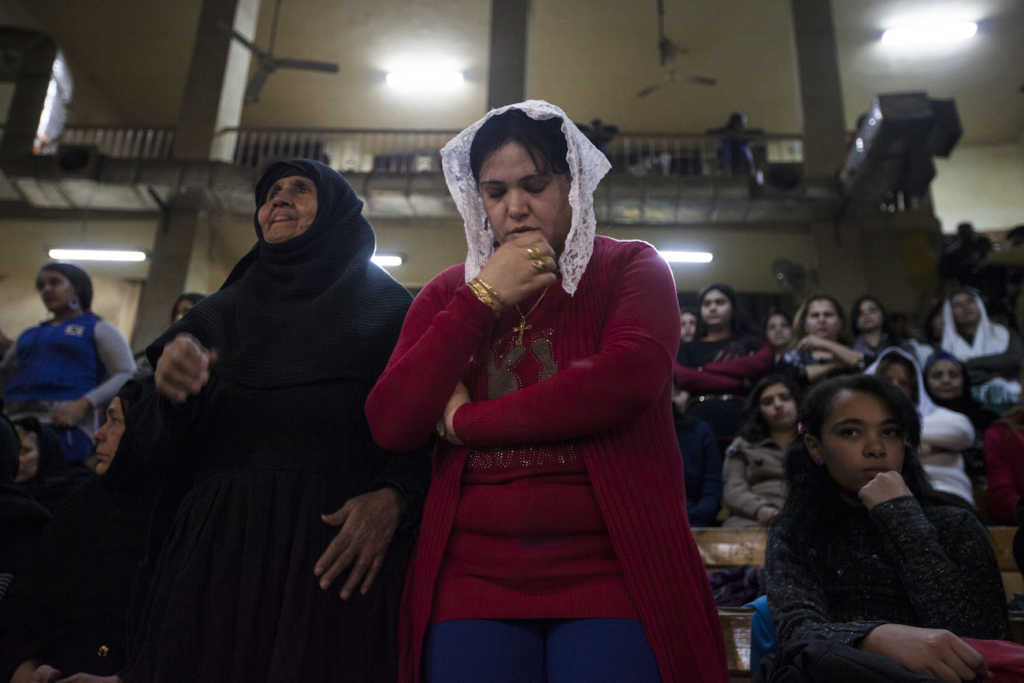 Egyptian Coptic Christians celebrate Christmas. (Photo by Ed Giles/Getty Images)