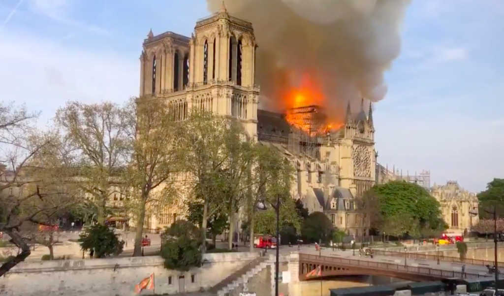 Breaking Notre Dame Cathedral Erupts In Flames Faithwire