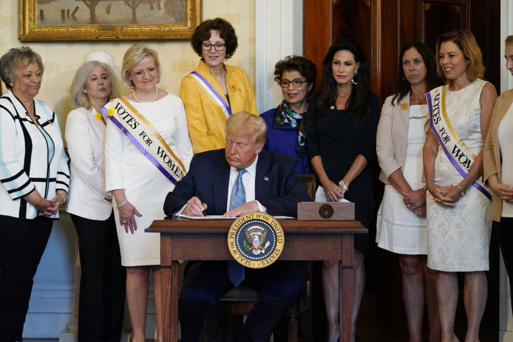 President Trump Pardons Women's Suffragist Leader Susan B. Anthony who was Arrested in 1872 for Trying to Vote on 100th Anniversary of 19th Amendment