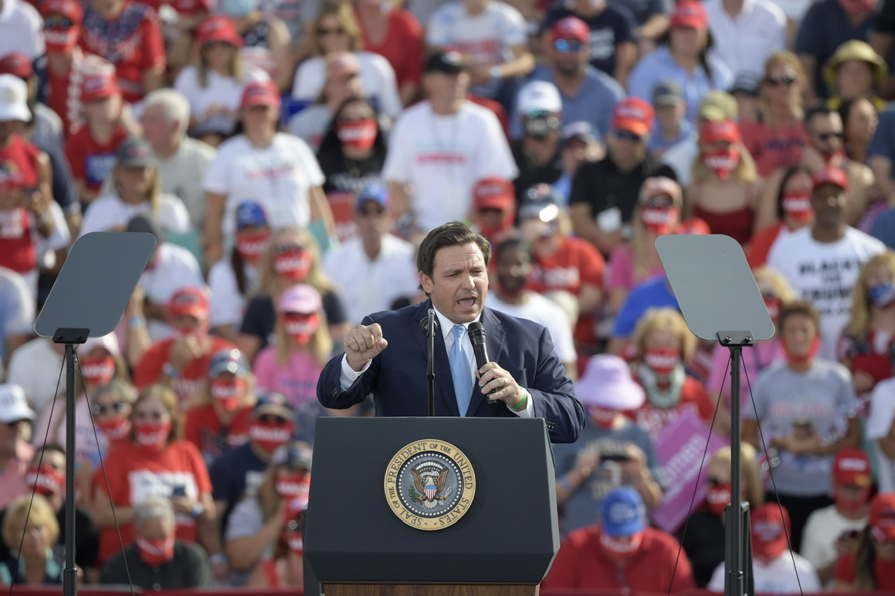 """DeSantis: """"You got to put on the full armor of God"""" to Fight Against The Left"""