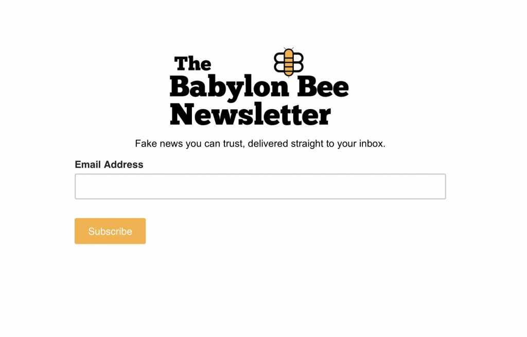 The Babylon Bee screenshot