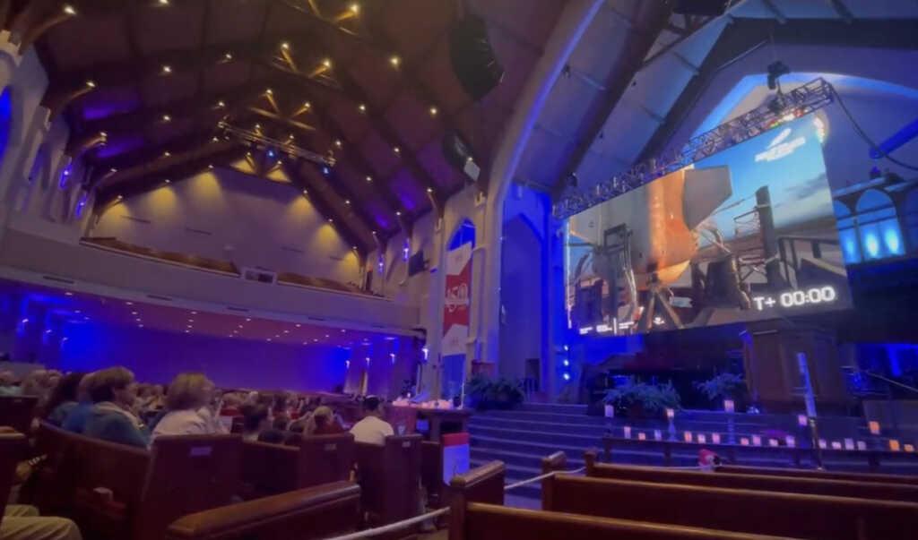 Church Friends Watch Wally Funk Rocket Into Space With Jeff Bezos